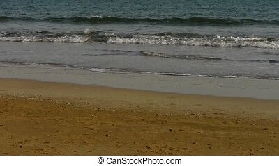 waves on sandy beach,bubble
