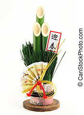 Pine decoration - In Japan, New Year, ornaments made...