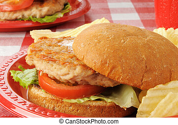 Healthy chicken burger