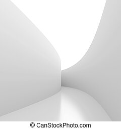 White corridor - 3d Illustration of White Futuristic...