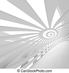 White Abstract Construction