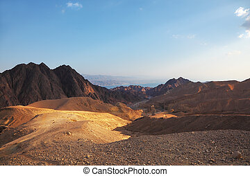 Early morning in  mountains of Sinai