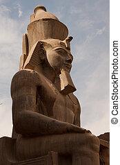 Statue of Ramses II in Karnak temple in Luxor, Egypt