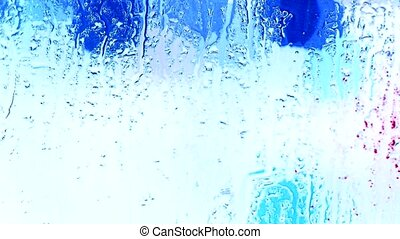 Water droplets on windows,Grilles,ice,Water vapor.