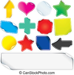 Colored Paper Stickers