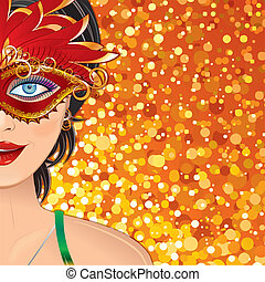 Carnival Girl Background - Festive Carnival Background with...