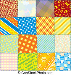 Seamless Fabric Texture - Seamless Quilt Fabric Texture...