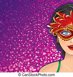 Festive Carnival Background - Festive Carnival Vector...