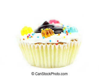 Cup cake on white background8