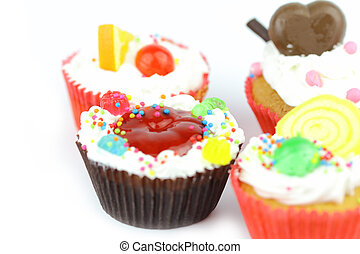Cup cake - Cup cake on white background 28