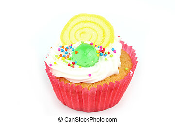 Cup  cake - Cup cake on white background 24
