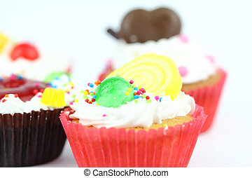 Cup  cake - Cup cake on white background 26