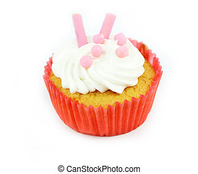 Cup  cake - Cup cake on white background17