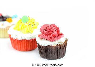 Cup cake on white background14