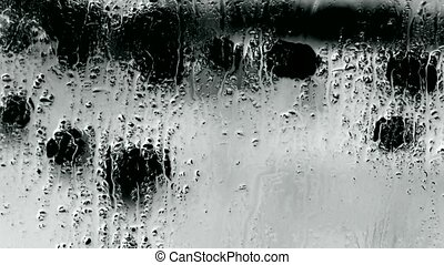 Water droplets on windows,Grilles