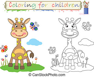 Coloring for children,girraffe