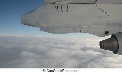 fly above sky clouds