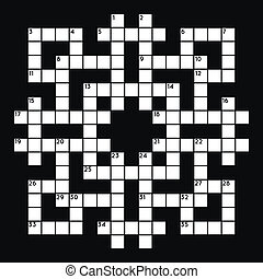 Empty crossword grid - Blank crossword grid