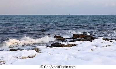 Sea Shore in the winter