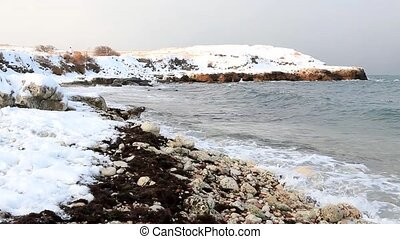 Sea Shore in the winter