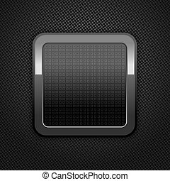 Metal web button - Dark gray background metal perforation...