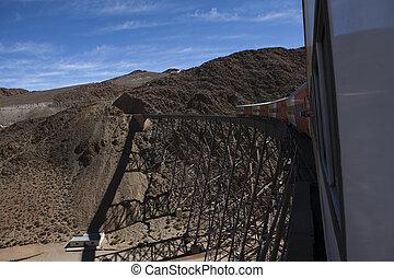 La Polvorilla viaduct in Argentina - The tren a las nubes on...
