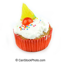 Cup  cake - Cup cake on white background 18