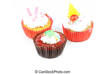 Cup cake on white background 19