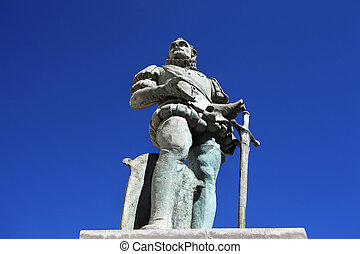 Statue of a Spaniard in Salta Capital, Salta, North...