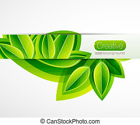 Vector nature leaves background - Vector green nature...