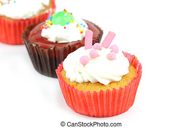 Cup cake on white background 20