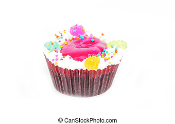 Cup  cake - Cup cake on white background22