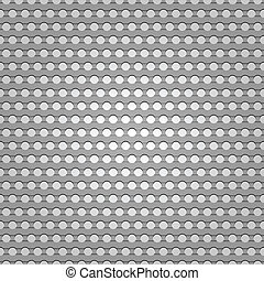 Seamless metal surface, background perforated sheet