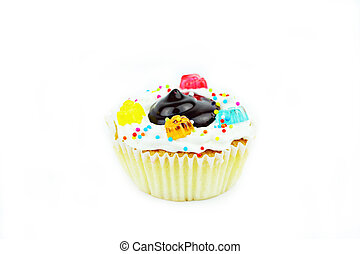 Cup cake on white background 30