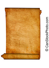 Scroll - Antique scroll on a white background