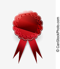 Red vector badge