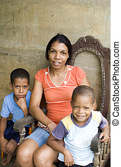 mother children Nicaragua Corn Island - mother with children...