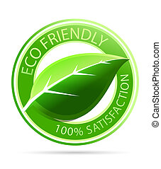 Vector green eco friendly tags - Vector illustration of...