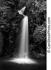 Mon Tha Than waterfall Black and White Doi Suthep - Doi Pui...