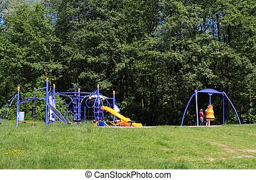 Playground for children in park