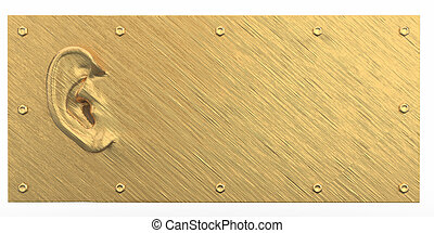 Golden ear on abstract dirty background