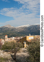 Mediterranean village - Winter landscape of a small...
