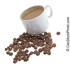 coffee a cup isolated on white background
