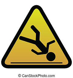 Warning sign slippery - Illustration of warning sign of...
