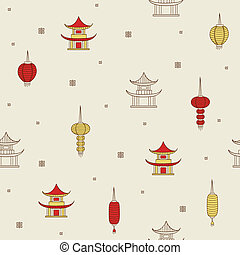 Chinese seamless background.