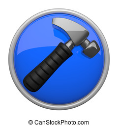 Hammer Icon, Construction and Contracting - Construction and...