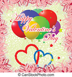 template valentine day card, abstract vector art...