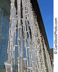 abstract power lamp heap under icicles, season details