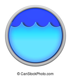 Blue water icon - Water and utilities icon.