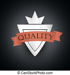 Vintage Silver Styled Premium Quality Label